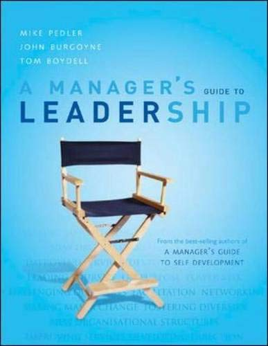 9780077104238: A Manager's Guide To Leadership