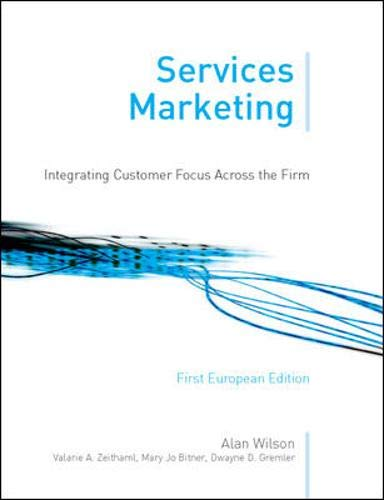 9780077107956: Services Marketing (1st European Edition)