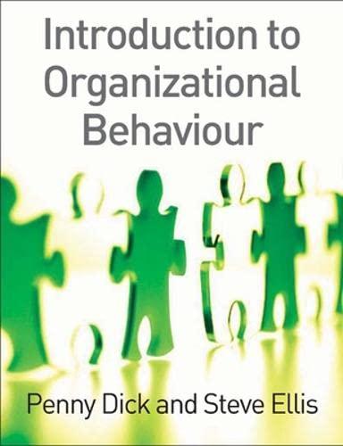 Introduction to Organizational Behaviour (0077108078) by Steve Ellis