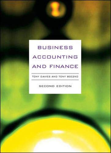 9780077108090: Business Accounting and Finance