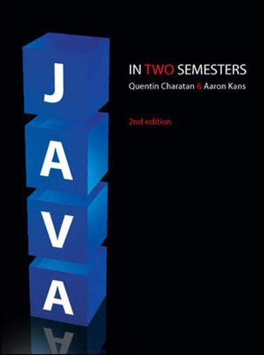 9780077108892: Java in Two Semesters