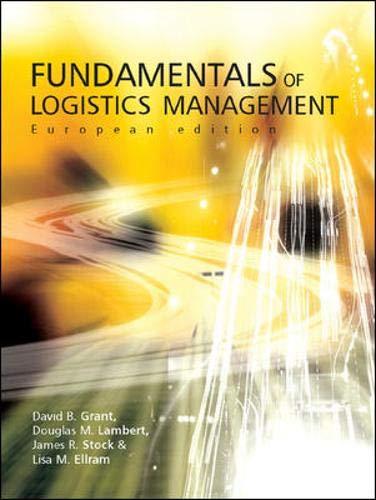 Fundamentals of Logistics Management: Grant, David, Lambert,