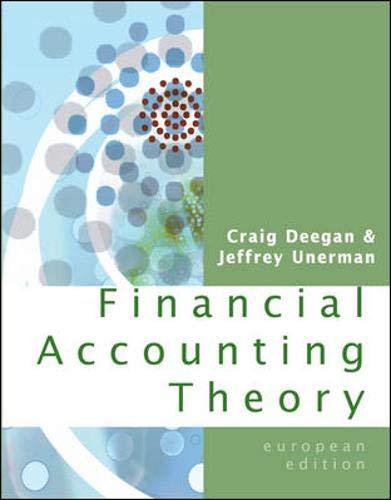 9780077108960: Financial Accounting Theory. Craig Deegan, Jeffrey Unerman