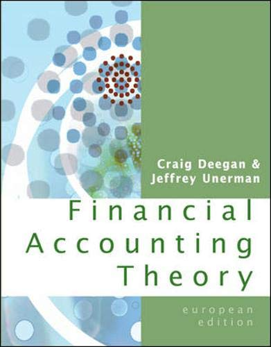 9780077108960: Financial Accounting Theory. Craig Deegan, Jeffrey Unerman