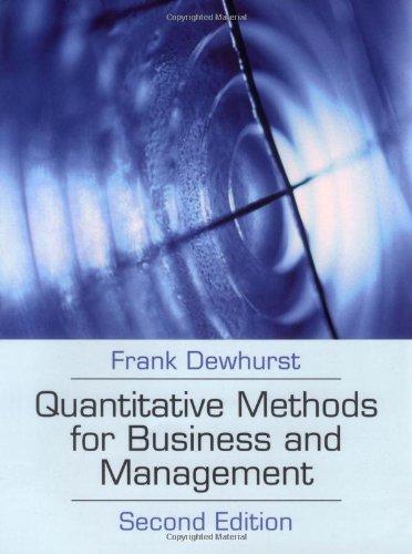 9780077109028: Quantitative Methods for Business and Management