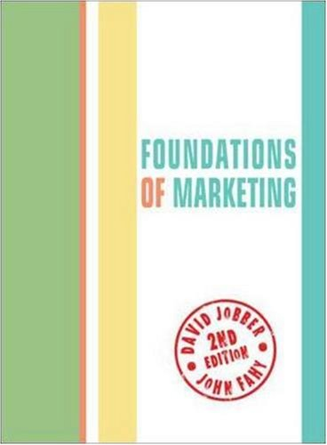 9780077109189: Foundations of Marketing