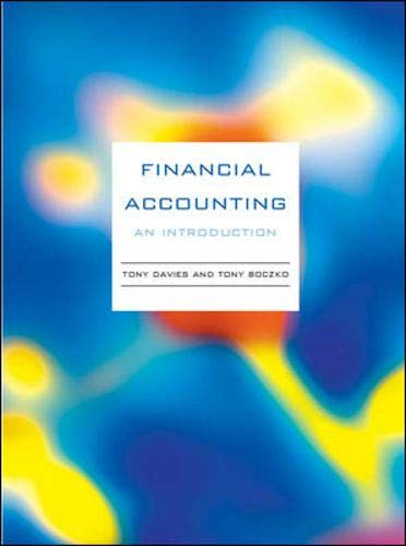 9780077109400: Financial Accounting: An Introduction