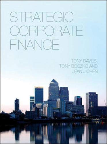 9780077109417: Strategic Corporate Finance