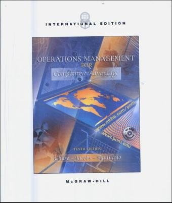 9780077109516: Operations Management for Competitive Advantage: AND Study Guide