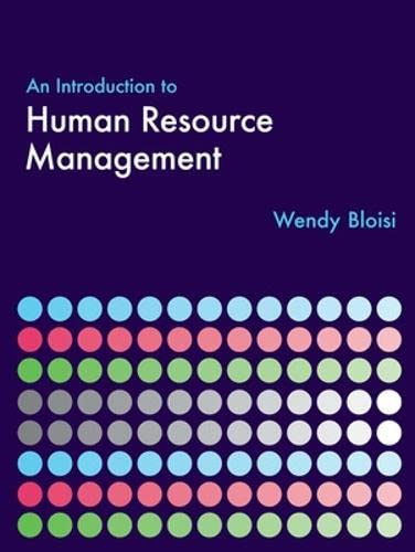 9780077109684: An Introduction to Human Resource Management
