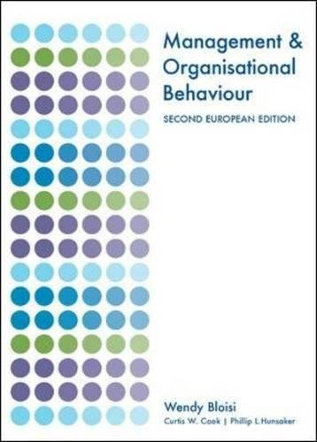 9780077111076: Management and Organisational Behaviour
