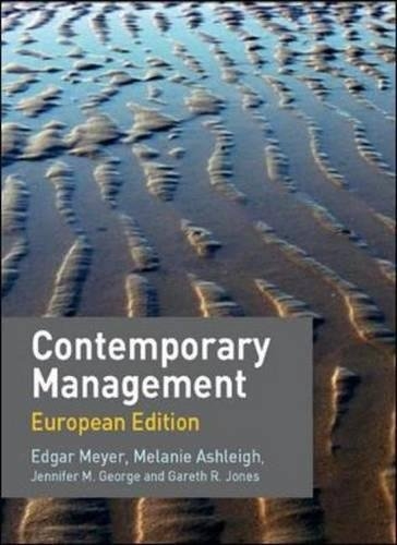 9780077111151: Contemporary Management: European Edition