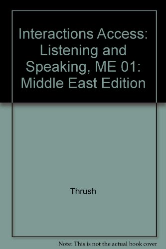 9780077111243: Interactions Access: Middle East Edition: Listening and Speaking