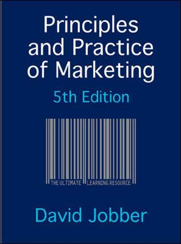 David Jobber Principles And Practice Of Marketing Pdf