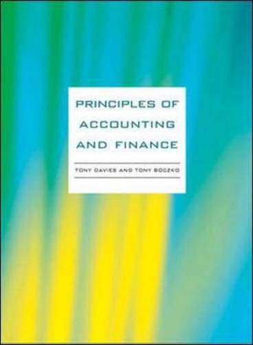 9780077114213: Principles of Accounting and Finance