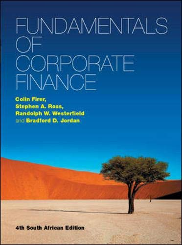 Fundamentals of Corporate Finance: Firer, Colin