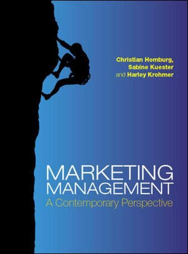 9780077117245: Marketing Management: A Contemporary Perspective. Christian Homburg, Sabine Kuester and Harley Krohmer