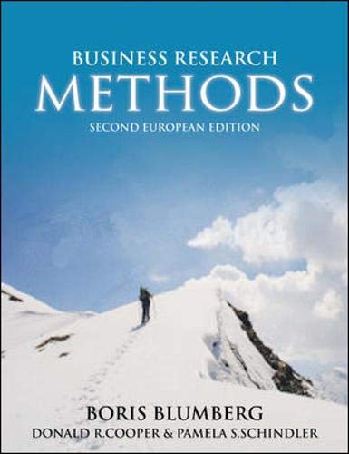 9780077117450: Business Research Methods: second European edition