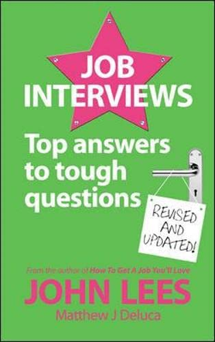 9780077119096: Job Interviews: Top answers to tough questions