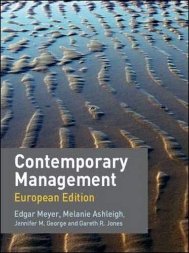 9780077122331: Contemporary Management: European Edition with Redemption card