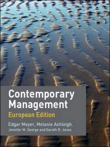 9780077122331: Contemporary Management (UK Higher Education Business Management)