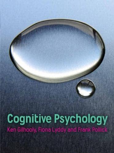 9780077122669: Cognitive Psychology