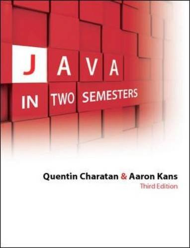 9780077122676: Java in Two Semesters. Quentin Charatan and Aaron Kans