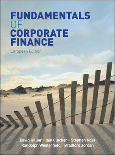 9780077125257: Fundamentals of Corporate Finance: European Ed.. by David Hillier, Iain Clacher