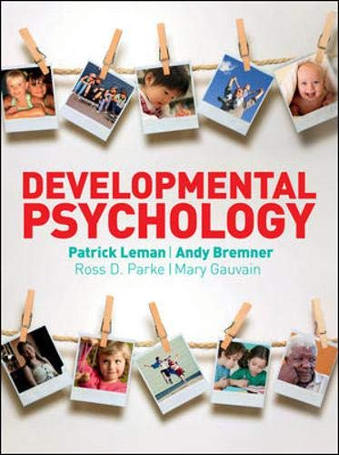 9780077126162: Developmental Psychology. Patrick Leman ... [Et Al.] (UK Higher Education Psychology)