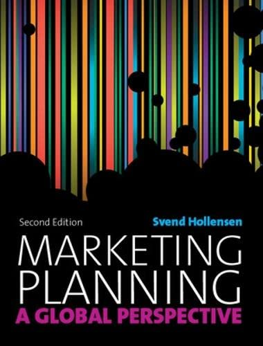 9780077127138: Marketing Planning: A Global Perspective