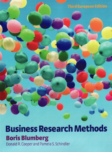 9780077129972: Business Research Methods. Boris Blumberg, Donald R. Cooper and Pamela S. Schindler