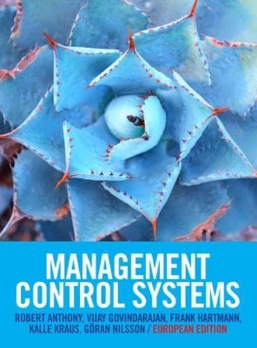 9780077133269: Management control systems. European edition (Economia e discipline aziendali)
