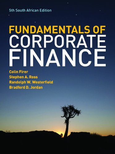 9780077134525: The Fundamentals of Corporate Finance: South African Edition