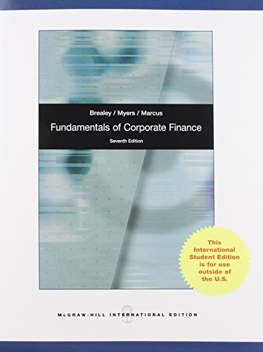 SW: Fundamentals of Corporate Finance with Connect Plus Card (0077138910) by Richard A. Brealey