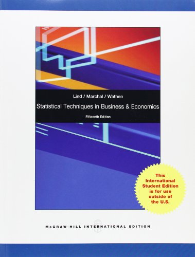 9780077139797: Sw Statistical Techniques in Business Ec