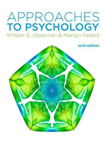 9780077140069: Approaches to Psychology