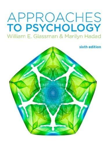 Approaches to Psychology (UK Higher Education Psychology): Glassman, William E.;