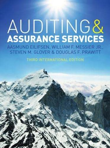 9780077143015: Auditing & Assurance Services, Third International Edition