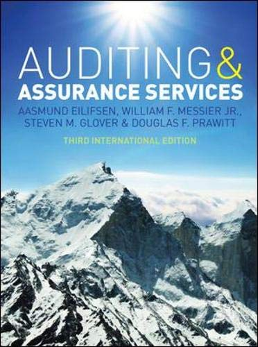 9780077143015: Auditing and Assurance Services, Third International Edition with ACL software CD