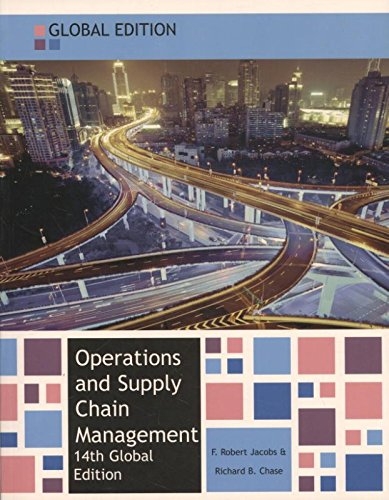 Operations and Supply Chain Management: Jacobs