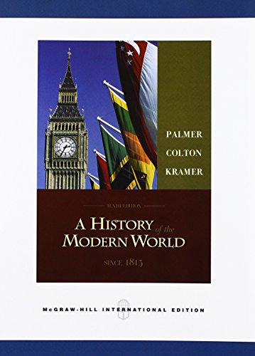HISTORY OF THE MODERN WORLD (Paperback): R. R. Palmer, Joel Colton, Lloyd Kramer