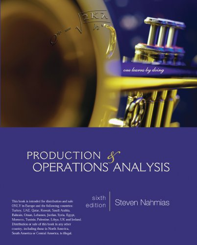 9780077159009: Production and Operations Analysis