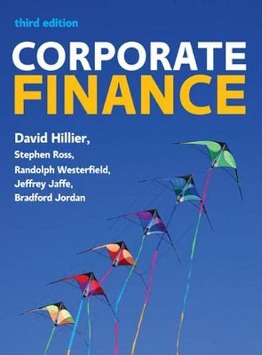 Corporate finance (Economia e discipline aziendali): David Hillier; Stephen