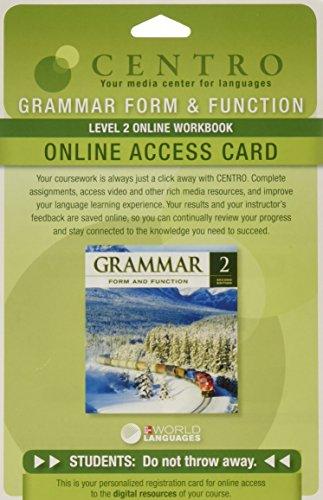 9780077192327: Grammar Form and Function - Level 2 - Online Workbook