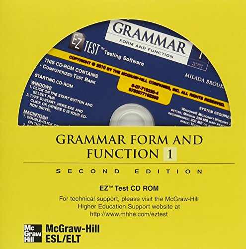 9780077192358: Grammar Form and Function Level 1 EZ Test CD-ROM