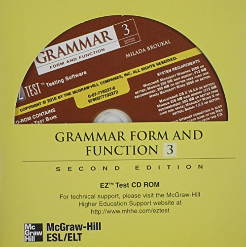 9780077192372: Grammar Form and Function Level 3 EZ Test CD-ROM