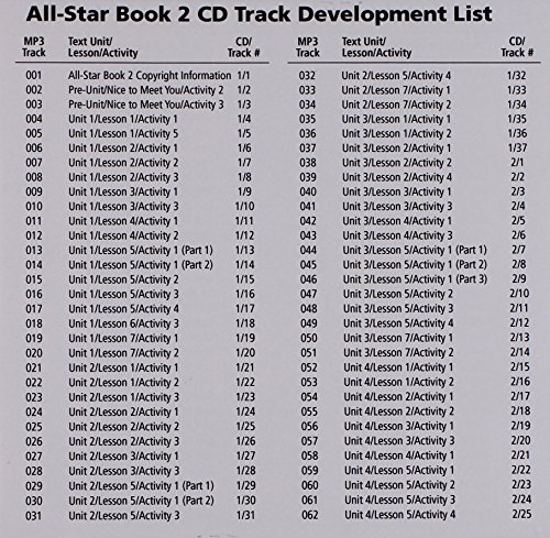 9780077197292: All Star Level 2 Teacher Audio with Testing