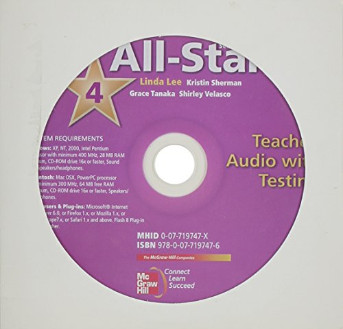 9780077197476: All Star Level 4 Teacher Audio with Testing MP3 Format