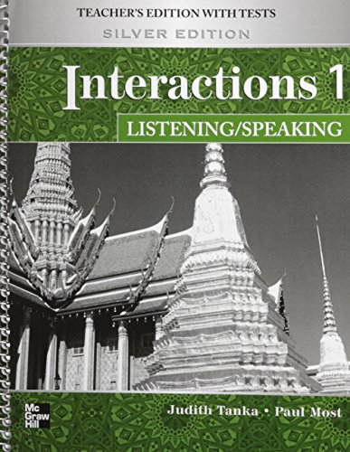 9780077202507: Interactions Level 1 Listening/Speaking Teacher's Edition plus Key Code for E-Course