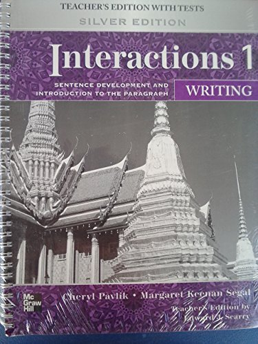 9780077202583: Interactions Level 1 Writing Teacher's Edition plus Key Code for E-Course: Sentence Development and Introduction to the Paragraph
